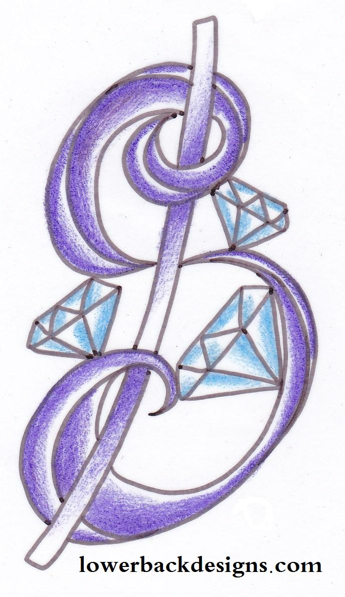 688x1192 Money sign tattoo designs Small Diamond Tattoo. Money Sign