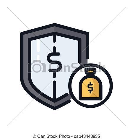 450x470 Money Protection Icon Color Vectors