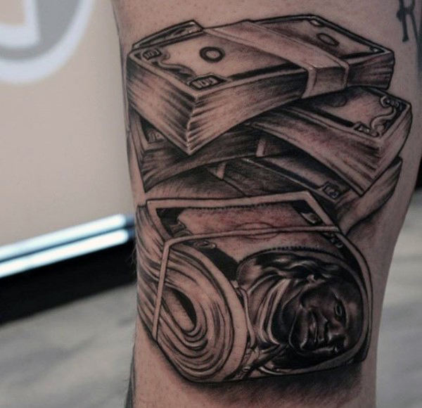 600x580 50 Money Tattoos For Men