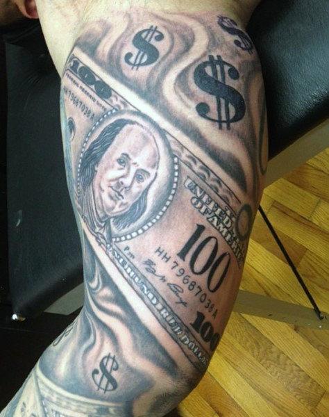 474x600 50 Money Tattoos For Men
