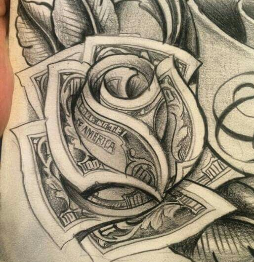 514x530 Money Tattoos Designs Group