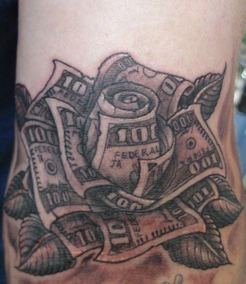 500x578 Money Tattoos For Men