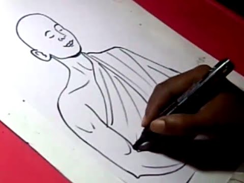 480x360 How To Draw Buddhist Monk Drawing Step By Step For Kids
