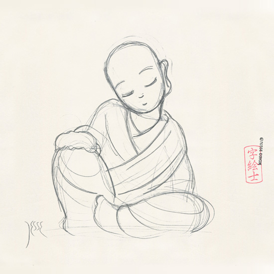550x550 Monk Sketch By 7e55e