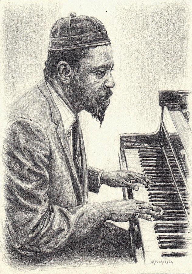 632x900 Thelonious Monk Ii Drawing By Michael Morgan