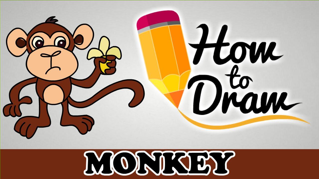 1280x720 How To Draw A Monkey