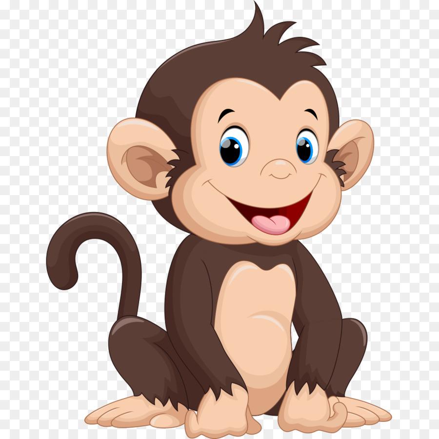 900x900 Monkey Cartoon Drawing Illustration