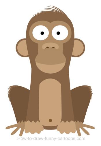 350x504 A Monkey Cartoon