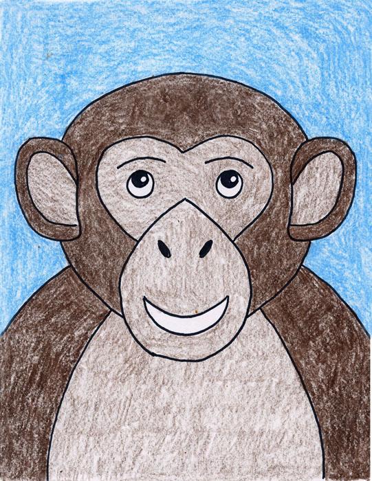 541x700 Draw A Monkey