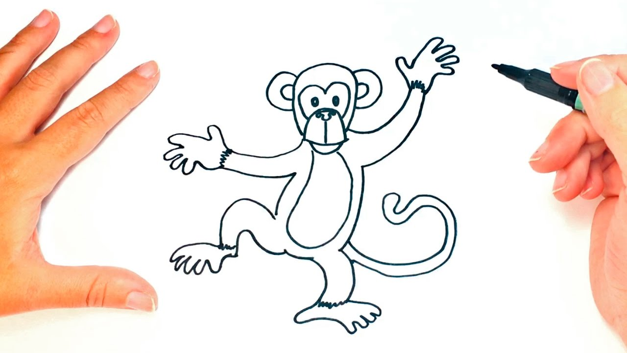 1280x720 How To Draw A Monkey For Kids Monkey Drawing Lesson Step By Step