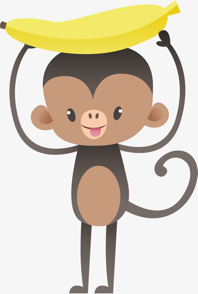 650x963 Cartoon Monkey Vector, Cartoon Hand Drawing, Cartoon Animal