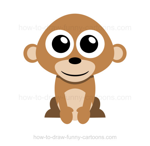 500x489 How To Draw A Monkey