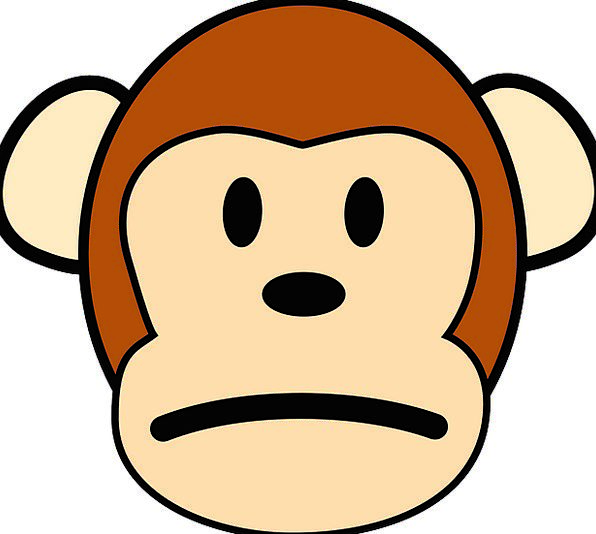 596x534 Monkey, Ape, Unfortunate, Sad, Unhappy, Cute, Expression, Look