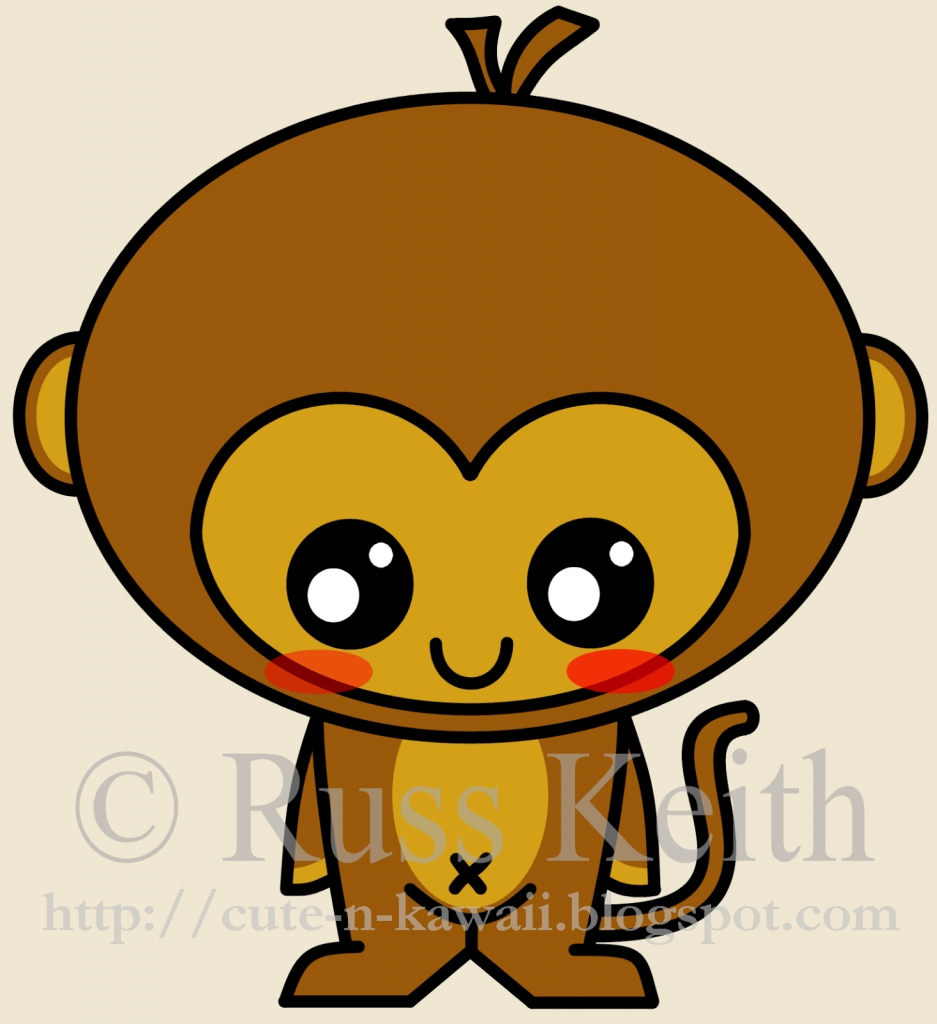 937x1024 Easy Monkey Drawing Cute N Kawaii How To Draw A Kawaii Monkey