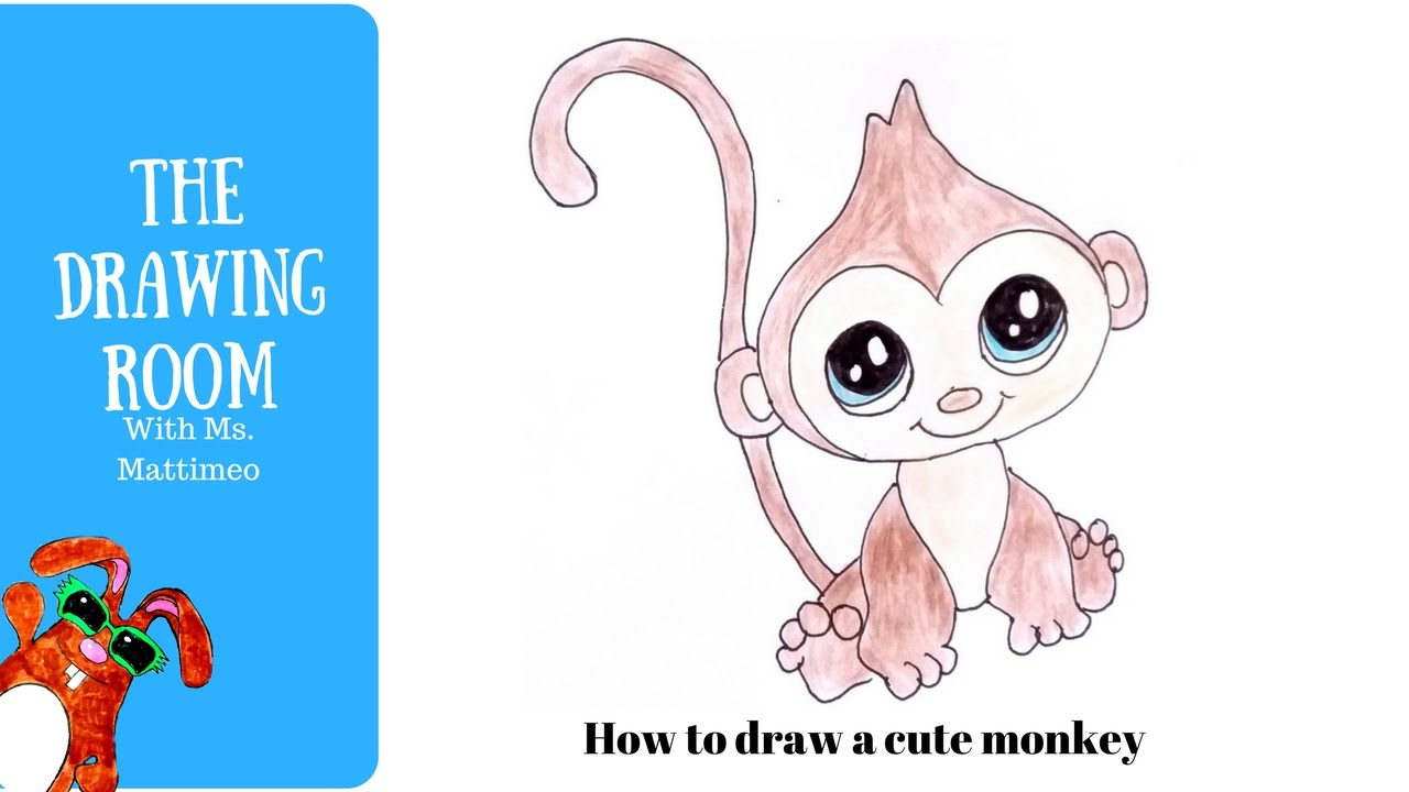 1280x720 How To Draw A Cute Monkey