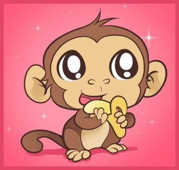 350x332 Monkey Crafts How To Draw An Easy Monkey, Step By Step, Forest