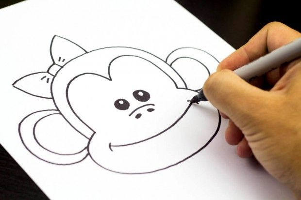 620x413 How to Draw 25 Awesome Cartoons With Your Kids! Monkey, Drawings