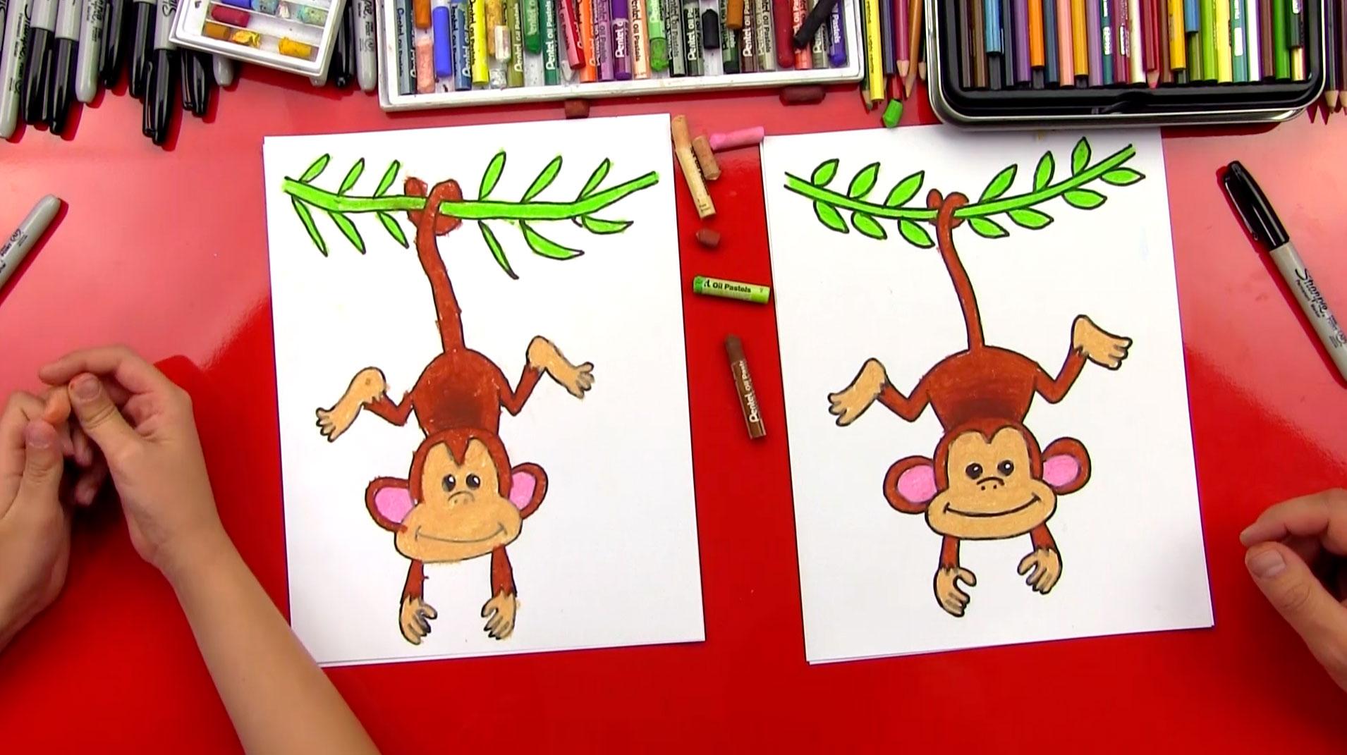 1910x1071 How To Draw A Monkey