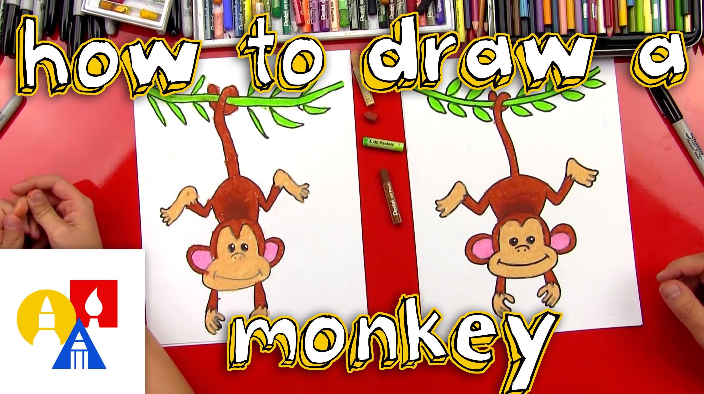 2463x1381 How To Draw A Monkey