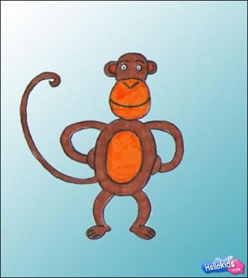350x393 How To Draw Monkey
