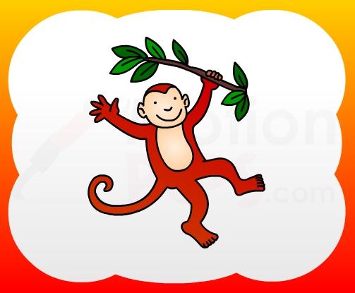 503x415 How2draw4kids How To Draw Monkey For Kids
