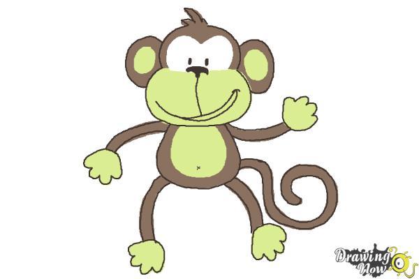 600x400 How To Draw A Monkey Step By Step