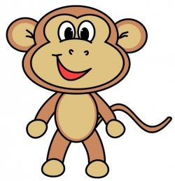 250x258 How To Draw A Cartoon Monkey With This Easy To Follow Step By Step