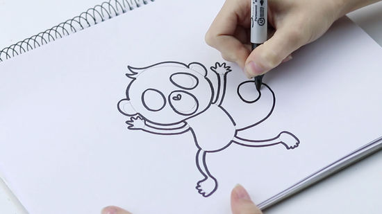 550x309 3 Ways To Draw A Monkey
