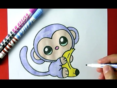 480x360 How To Draw A Cute Monkey