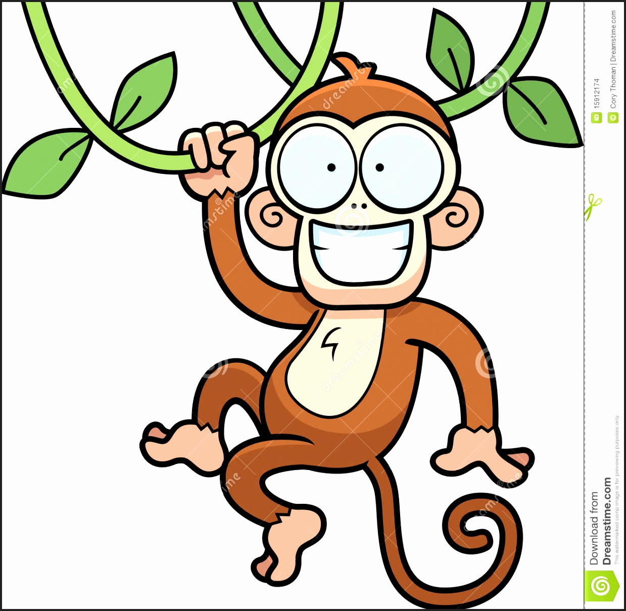 1239x1209 Monkey Hanging From Tree Clipart Newcoloring123
