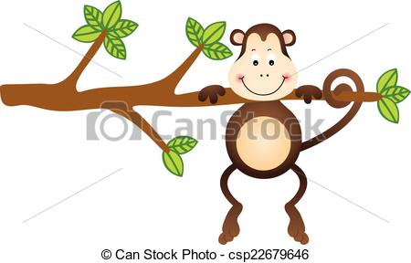 450x288 Scalable Vectorial Image Representing A Monkey Hanging Tree