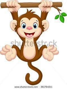 236x311 Baixe O Vetor Royalty Free Cute Baby Monkey Hanging On Tree