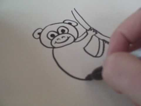 480x360 How To Draw A Cartoon Monkey
