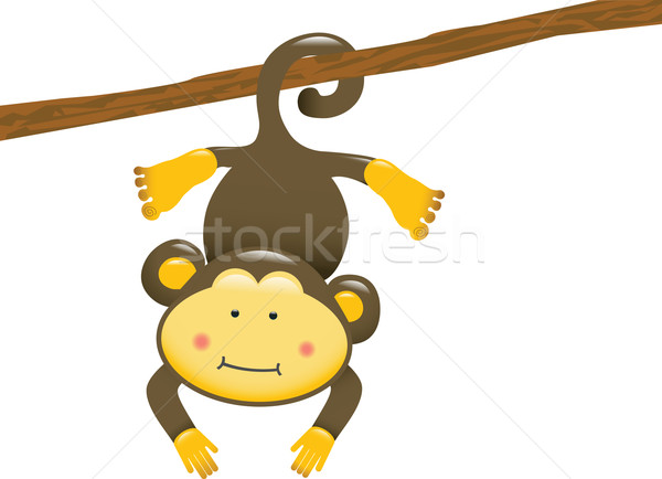 600x434 Monkey Hanging Vector Illustration Amy Lau (Mintymilk) ( 279256