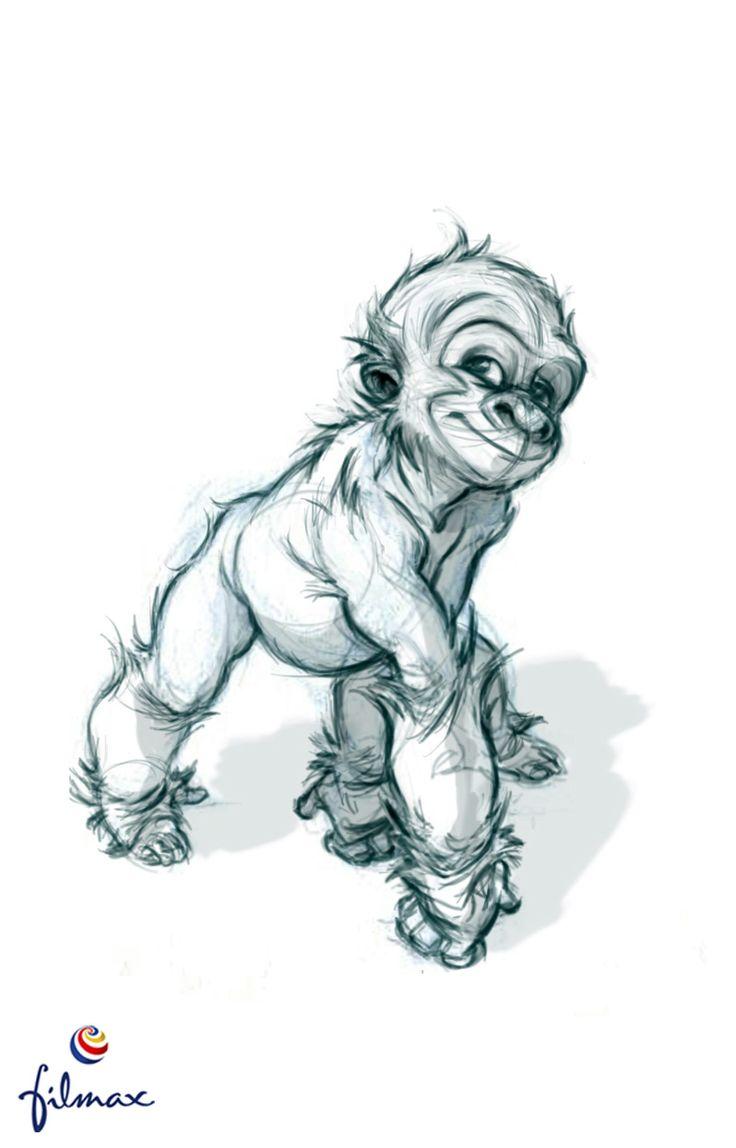 736x1148 Drawn 3d Monkey
