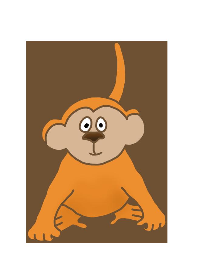 656x886 Funny Monkey Drawings