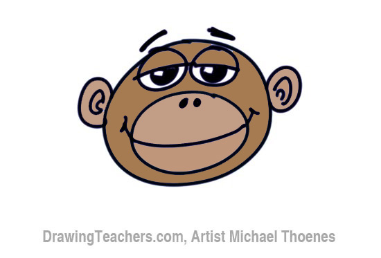 550x373 How To Draw A Funny Monkey Face