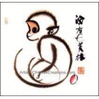 200x200 82 Best Monkey Images On Chinese Painting, Monkeys