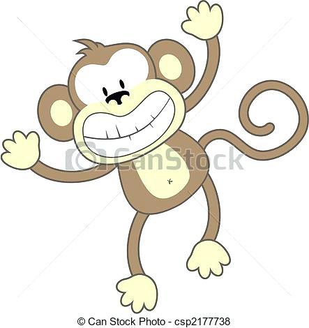 443x470 Easy Cartoon Monkey Smiling Monkey Vector Simple Cartoon Monkey