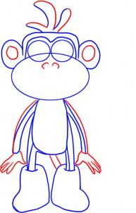 193x302 How To Draw How To Draw Boots The Monkey From Dora The Explorer