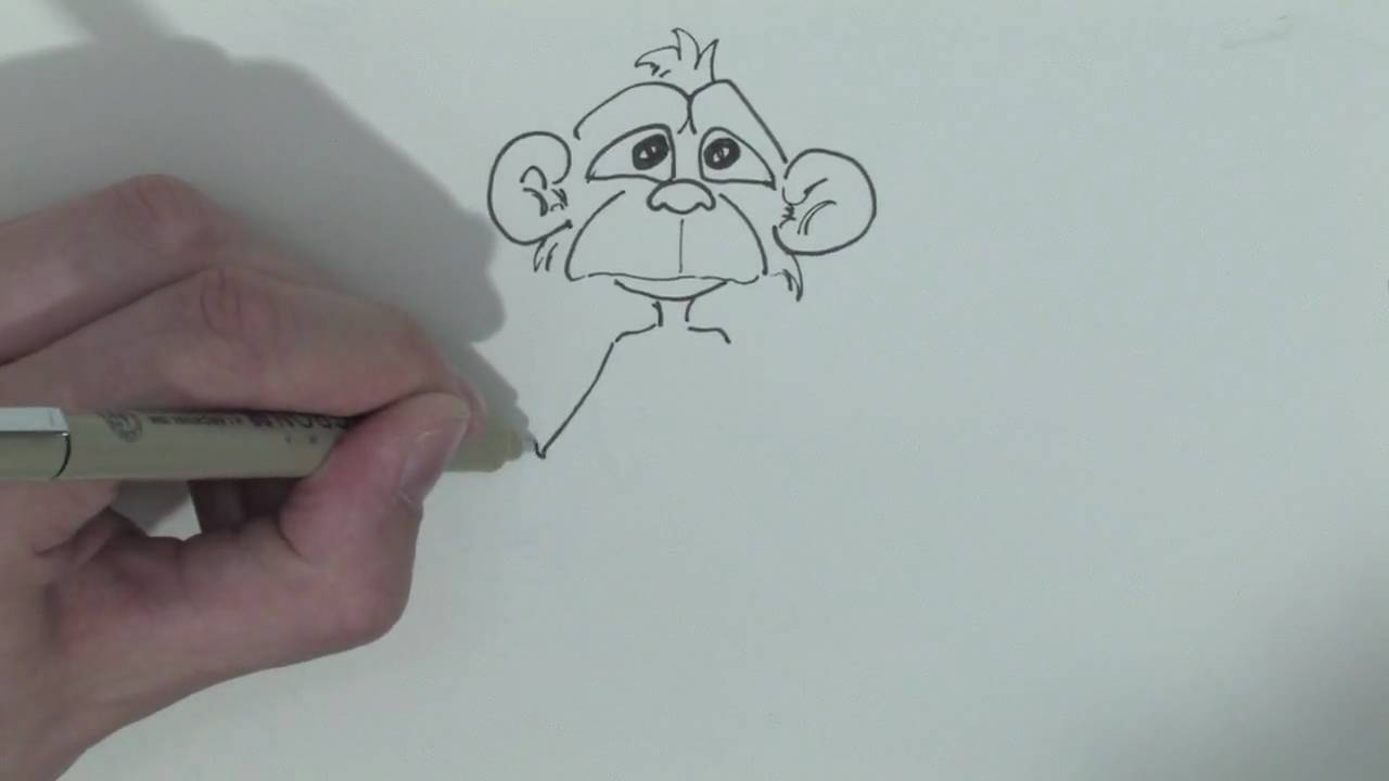 1280x720 Drawing Amp Illustration Techniques How To Draw A Monkey Step By