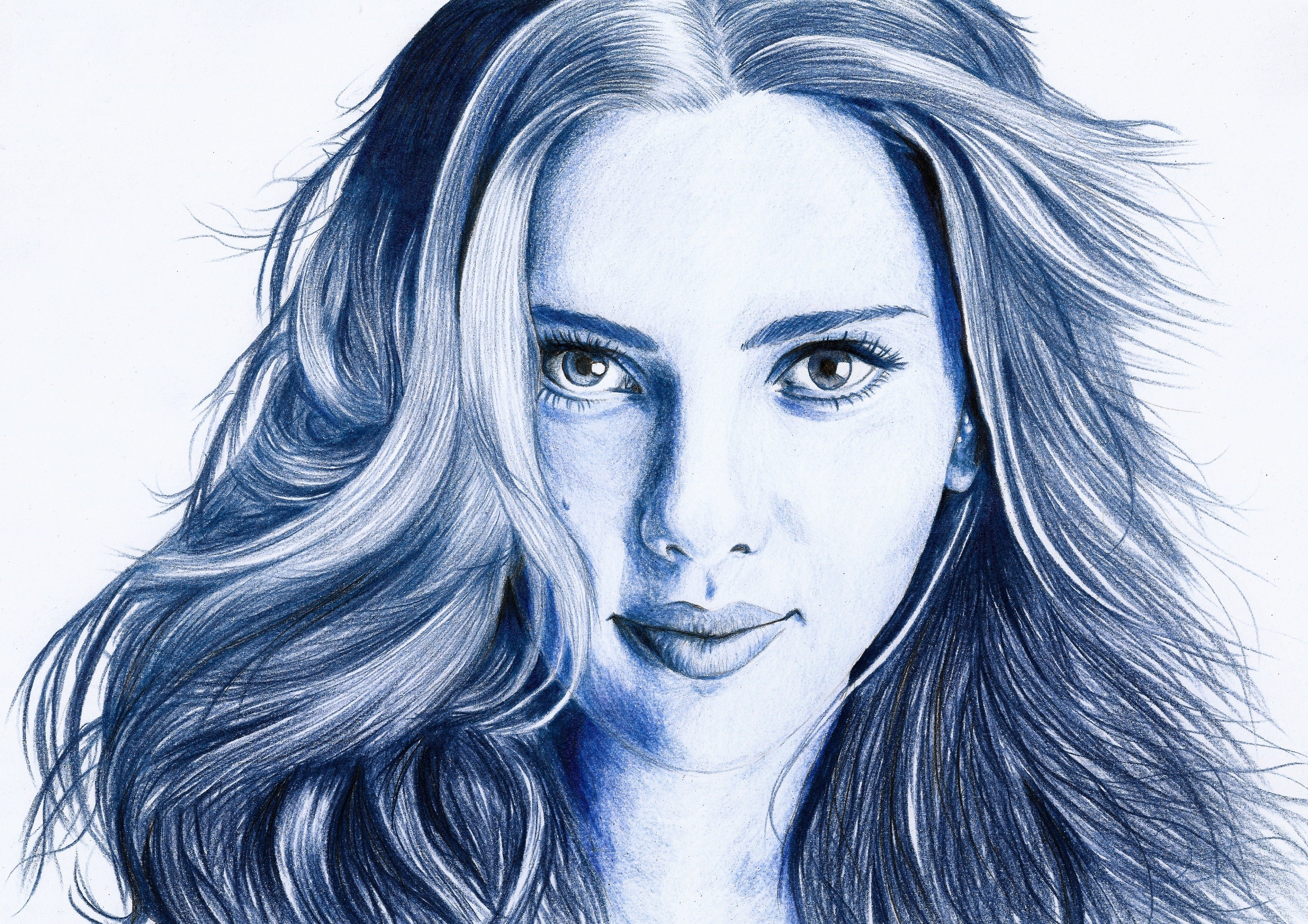 2562x1810 Wallpaper Face, Illustration, Portrait, Artwork, Charcoal, Head