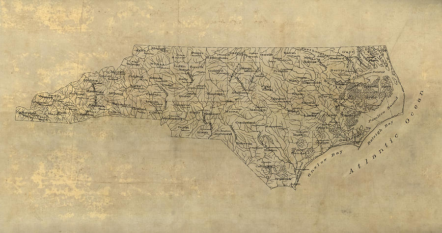 900x476 Antique Map Of North Carolina
