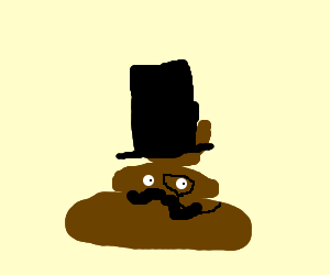 300x250 Pile Of Poop Wearing Top Hat And Monocle