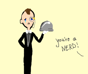 300x250 Sad Butler Humiliated For Wearing A Monocle (Drawing By Desiree