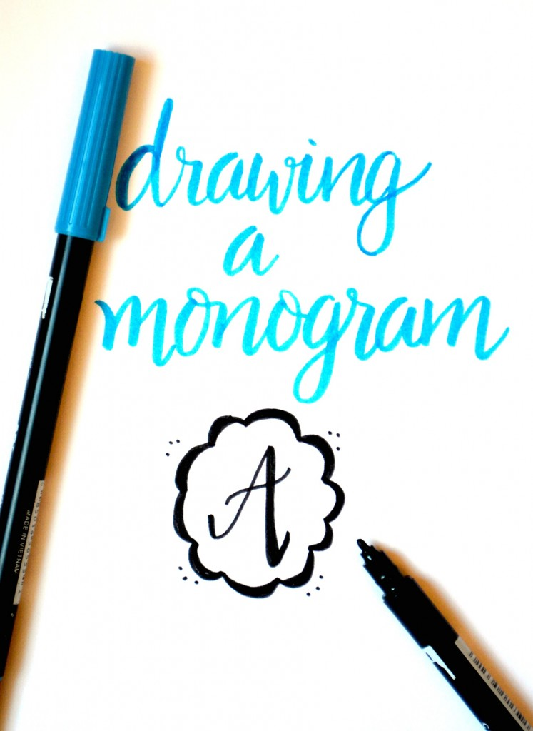 747x1024 Basic Hand Lettering Drawing A Monogram