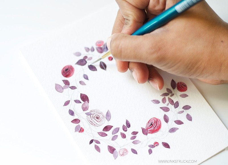 800x579 Floral Monogram Illustration Tutorial How To Make A Drawing