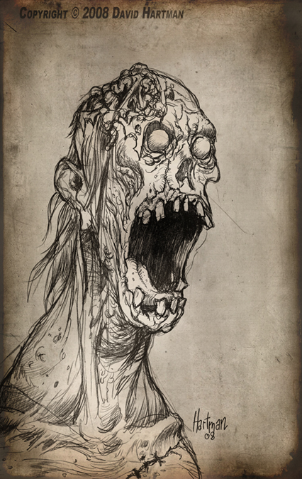 426x675 Monster Drawing 1 By Hartman By Sideshowmonkey