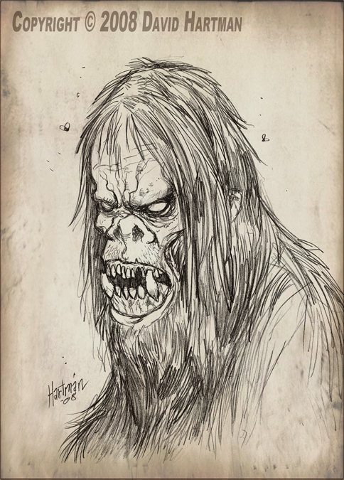 484x675 Monster Drawing 2 By Hartman By Sideshowmonkey