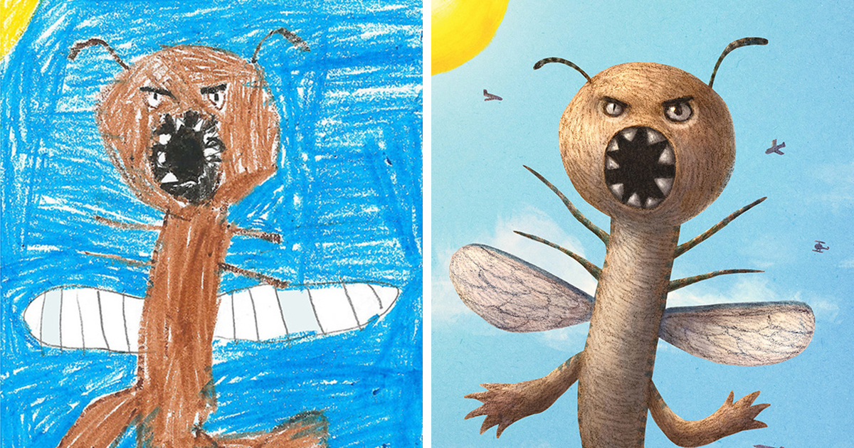 1200x630 Artists Recreate Kids' Monster Doodles In Their Unique Styles